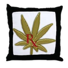 Rx Marijuana Throw Pillow