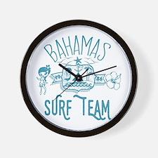 Bahamas Surf Team Wall Clock
