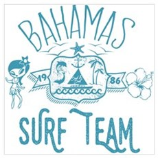 Bahamas Surf Team Canvas Art