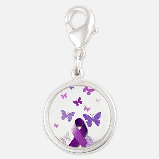 Purple Awareness Ribbon Charms