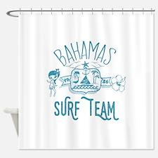Bahamas Surf Team Shower Curtain