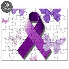 Purple Awareness Ribbon Puzzle