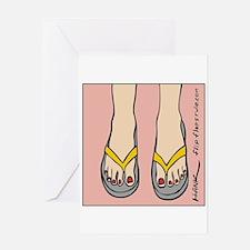 Unique Feet sex Greeting Card