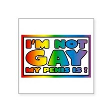 I'm not gay my penis is Sticker