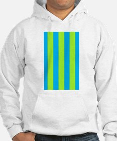 Chic Delight Green Blue Stripes Hoodie