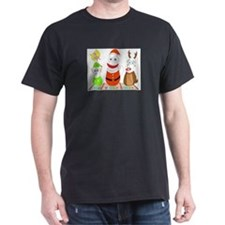 micchiee / bowling pin family / christmas T-Shirt