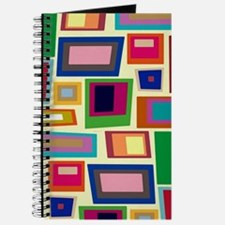 Colorful Square Mid Century Modern Journal