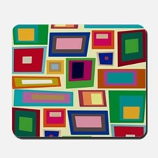 Colorful Square Mid Century Modern Mousepad