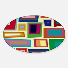 Colorful Square Mid Century Modern Decal