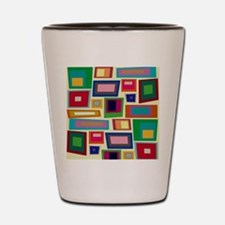 Colorful Square Mid Century Modern Shot Glass