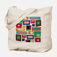 Colorful Square Mid Century Modern Tote Bag