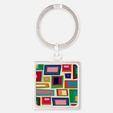 Colorful Square Mid Century Modern Keychains