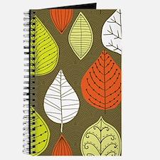 Leaves on Green Mid Century Modern Journal