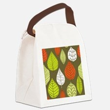 Leaves on Green Mid Century Modern Canvas Lunch Ba