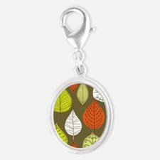 Leaves on Green Mid Century Modern Charms