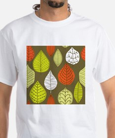 Leaves on Green Mid Century Modern T-Shirt
