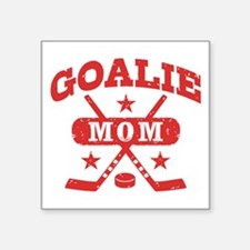 "Unique Hockey mom Square Sticker 3"" x 3"""