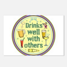 Drinks well with others Postcards (Package of 8)