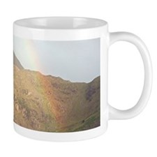 Welsh mountain and rainbow Mugs