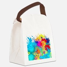 Splat Cluster Canvas Lunch Bag