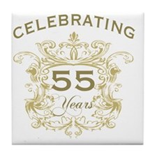 55th Wedding Anniversary Tile Coaster