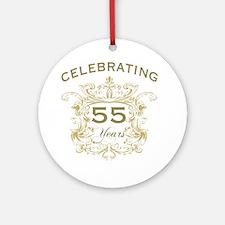 55th Wedding Anniversary Round Ornament