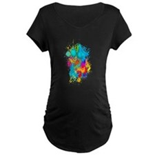 Splat Vertical Maternity T-Shirt
