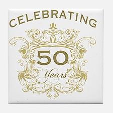 50th Wedding Anniversary Tile Coaster