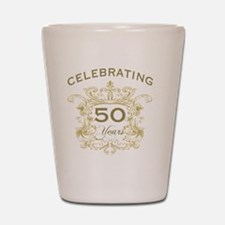 50th Wedding Anniversary Shot Glass