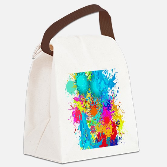 Splat Vertical Canvas Lunch Bag