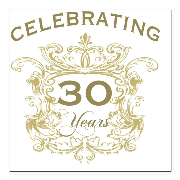 30th Wedding Anniversary Square Car Magnet 3 X 3 By Listing Store 1519247