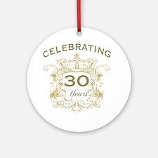 30th Wedding Anniversary Round Ornament