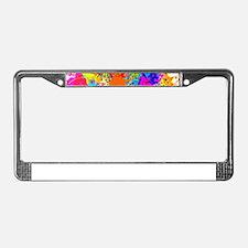Splat Vertical License Plate Frame