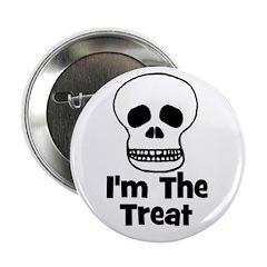 I'm The Treat (skull) Button