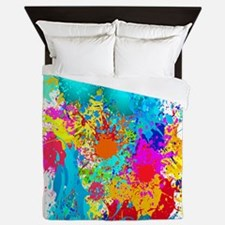 Splat Vertical Queen Duvet