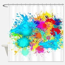 Splat Cluster Shower Curtain
