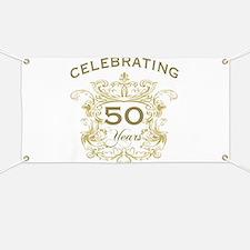 50th Wedding Anniversary Banner