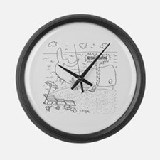 Whale Cartoon 9283 Large Wall Clock