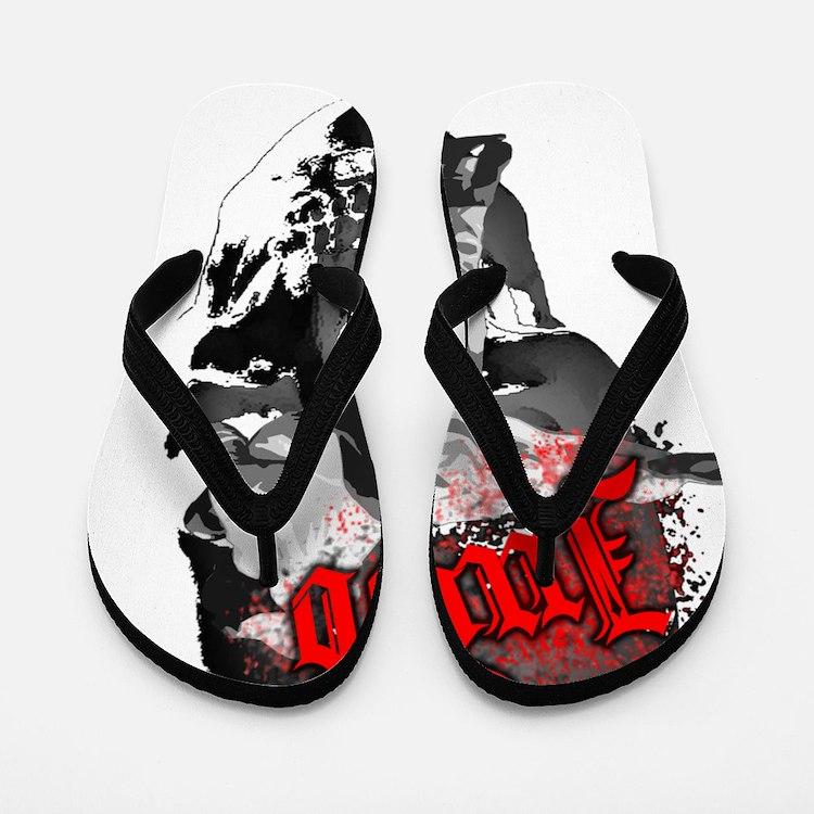 Gothic Judo Flip Flops