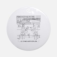 Literature Cartoon 9267 Round Ornament