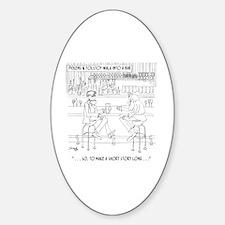 Literature Cartoon 9267 Sticker (Oval)