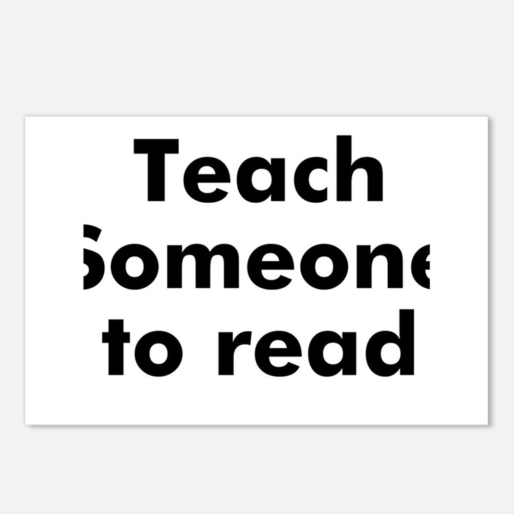 Teach Someone to read Postcards (Package of 8)