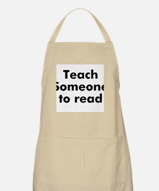 Teach Someone to read BBQ Apron