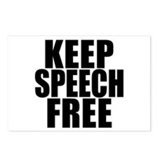 Keep Speech Free Postcards (Package of 8)