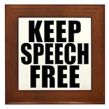 Keep Speech Free Framed Tile