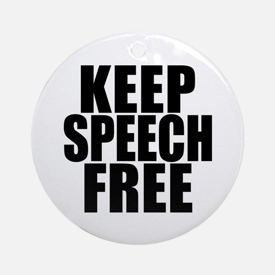 Keep Speech Free Ornament (Round)