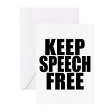 Keep Speech Free Greeting Cards (Pk of 10)