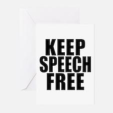 Keep Speech Free Greeting Cards (Pk of 10)