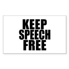 Keep Speech Free Rectangle Decal