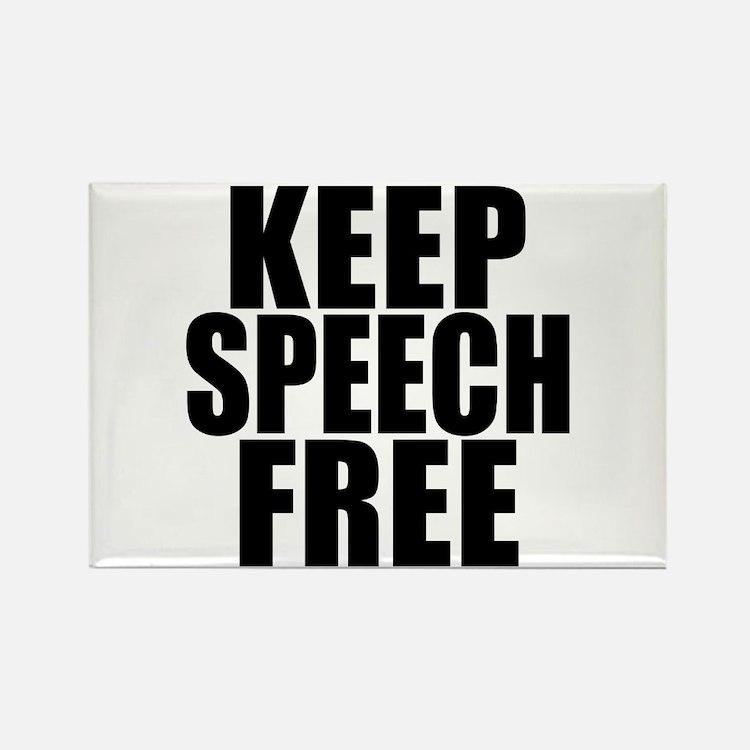 Keep Speech Free Rectangle Magnet
